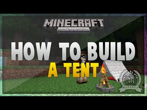 Minecraft: How To Build a Tent (Camping) - Camp In Minecraft [Xbox/PS/PE]