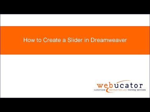How to Create a Slider in Dreamweaver