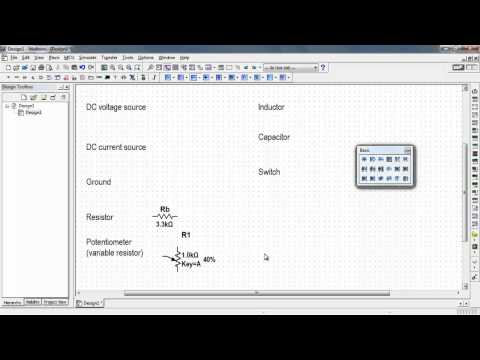 NI Multisim: Find commonly-used circuit components