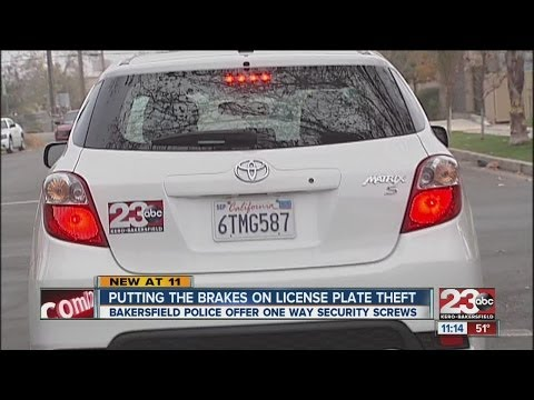 Preventing license plate theft