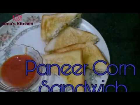 Paneer Corn Sandwich | Cottage Cheese Corn Recipe | Quick Snack