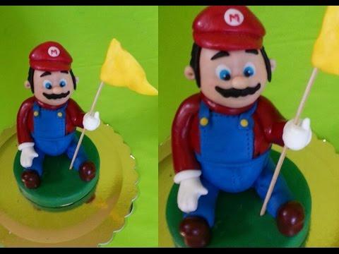 Tutorial Super Mario Bros Cake Topper per torta decorata in pasta di zucchero fondant