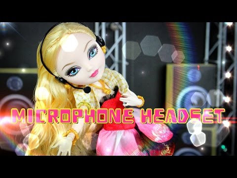 DIY - How to Make: Doll Microphone Headset - Handmade - Doll - Crafts