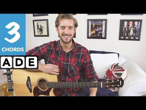 Sweet Caroline - Guitar Lesson - Neil Diamond Easy 3 chord Song Tutorial