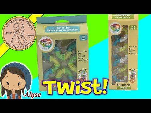 Tangle Twisting Fidget Brain Tool Toys!