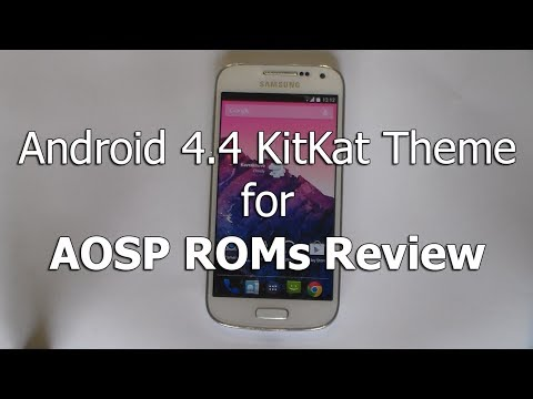 Android 4.4 KitKat theme for AOSP ROMs (CM, AOKP, Paranoid)
