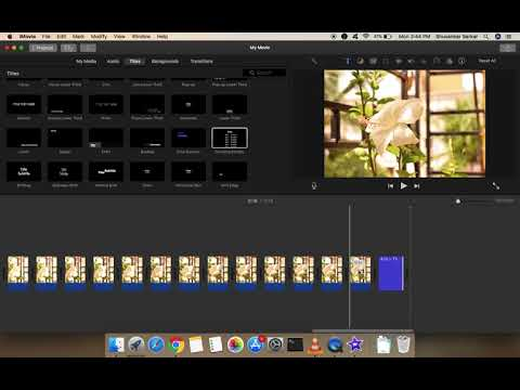 How to make Time Lapse in iMovie