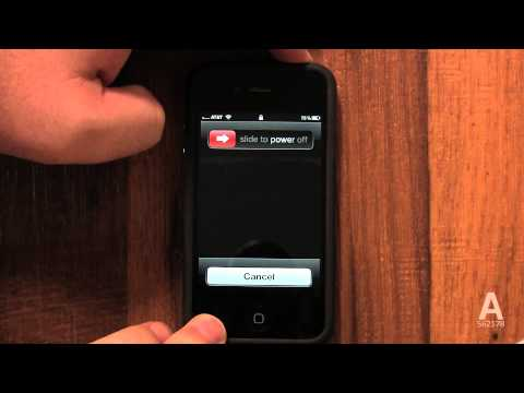 A: How To Turn off an iPhone 4S/4/3GS Fully - How to use my iPhone Tutorial 17