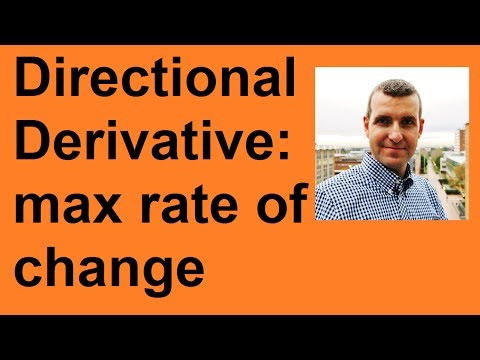 Direction and max value of directional derivative