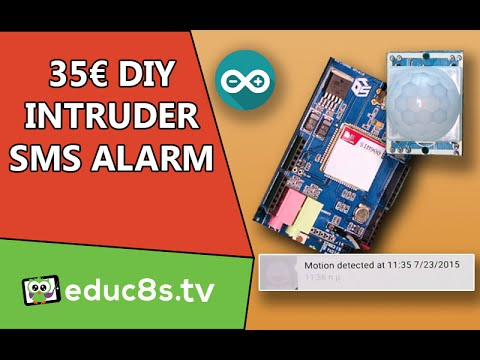 Arduino Project: Home Security Project with SMS Intruder Alert - Easy DIY project