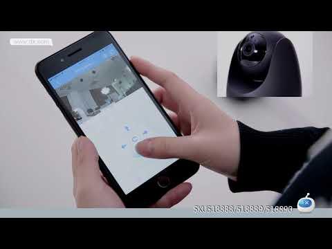 OPTJOY QC21 1080P HD wifi IP-Kamera, drahtlose Innenkamera mit Bewegungsverfolgung, Nachtsicht