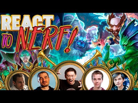 Hearthstone Streamers React to CARD NERF. Balance Changes! Kripparrian, Thijs, Trump, Zalae, Kolento