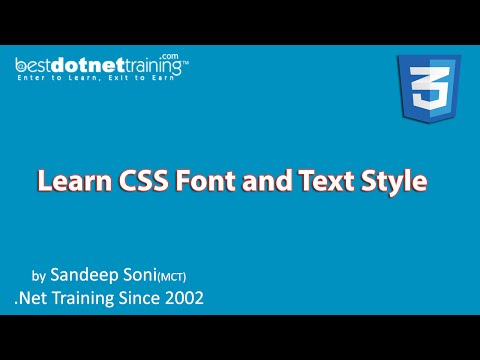 How to change font styles and colors in CSS - Video 1 - CSS3 Tutorial for Beginners