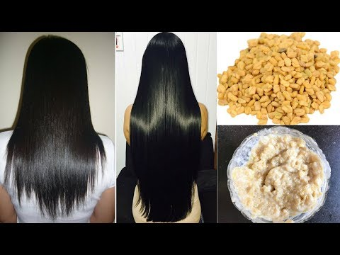 How To Grow Long and Thick Hair Naturally and Faster | Fenugreek Hair Mask | #HairCareWeek Day 4