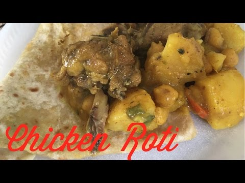 COME COOK WITH ME| Curry Chicken Roti🍴