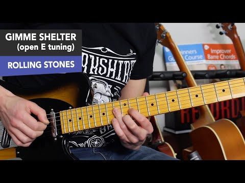 The Rolling Stones - Gimme Shelter Guitar Lesson Tutorial - Open E Tuning