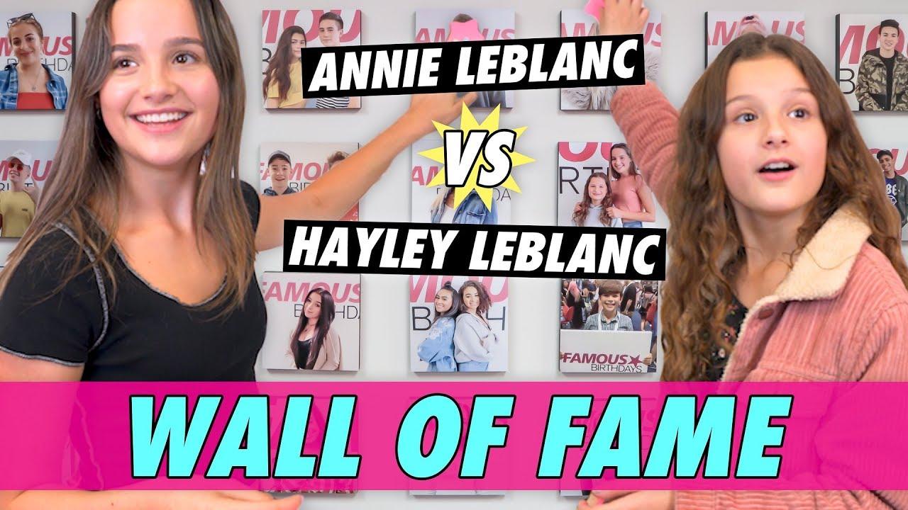 Annie vs Hayley LeBlanc - Wall of Fame