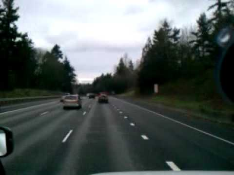West of Seattle Washington on I-405 - www.TruckDriverDiary.com