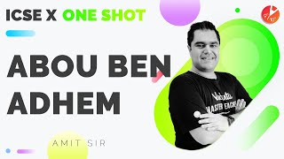 Abou Ben Adhem in One Shot (Full Chapter)   ICSE 10 English Treasure Trove (Board 2021- 22) Vedantu