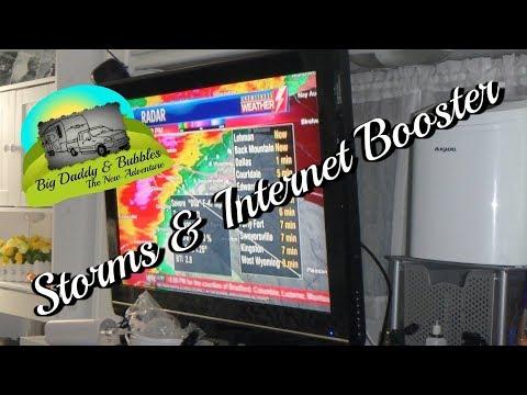 RV Life - Tornado warnings and Internet Booster