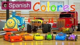 Learn Colors (SPANISH) - Colores y coches de carreras con Max, Bill y Pete el camión - TOYS
