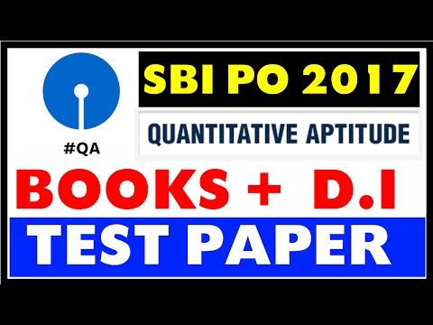 SBI PO 2017 - Quantitative Aptitude Books + Strategy + Test Papers + YouTube Resources Etc