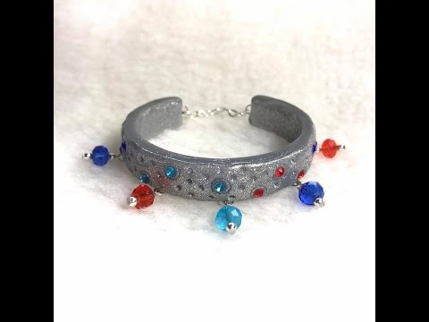 How to Make a Dangle Cuff Bracelet
