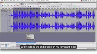 Audacity Tutorial 2: Audio Editing