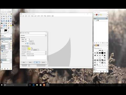 How to Set Resolution and Canvas size in GIMP