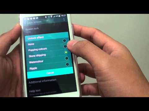 Samsung Galaxy S5: How to Change Lock Screen Unlock Effect