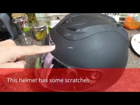 How to remove scratches from a helmet