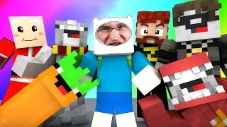 Minecraft Mini-Game : DO NOT LAUGH! (DEMON SANTA, CARROT WITH A GUN!) w/ Facecam