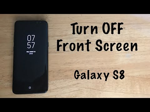 How to turn Off front screen clock Galaxy S8 /S8 Plus