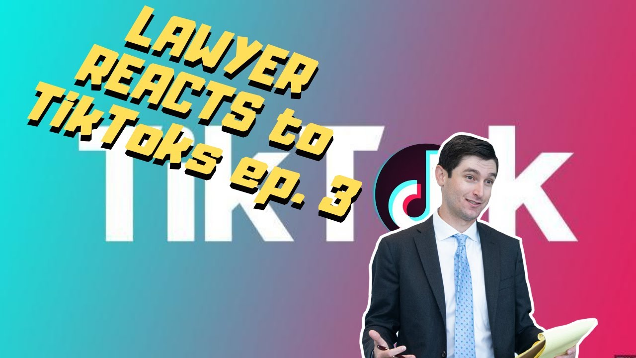 Lawyer reacts to CRAZY legal TikToks Ep. 3