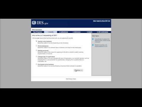 How to Create An LLC - Limited Liability Company - EIN Part 3 (Tax ID Number)