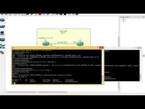 How to configure OSPF