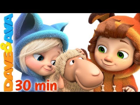 😍 Little Bo Peep | Baby Songs Collection | 3D Nursery Rhymes from Dave and Ava 😍