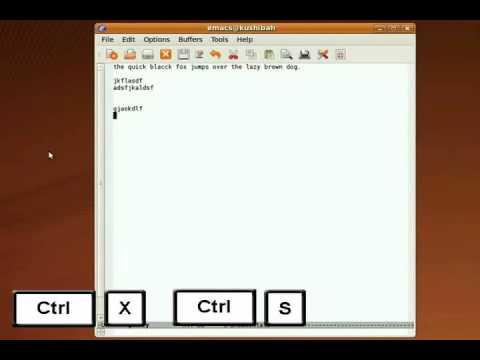 Emacs Tutorial Lesson 1