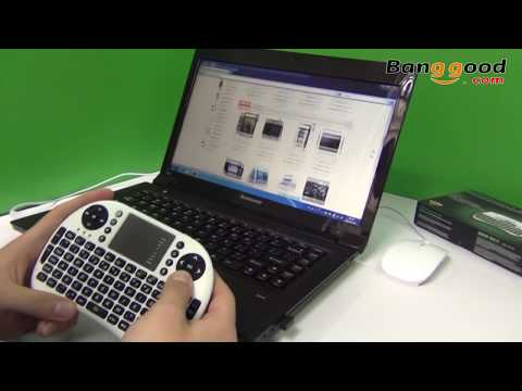 2.4GHz Mini Portable Wireless Keyboard with Touchpad Keyboard Mouse PC - Banggood.com
