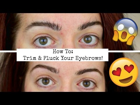 How To Trim & Tweeze Eyebrows! Shape Perfect, Natural Brows