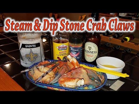 Steam & Dip Stone Crab Claws