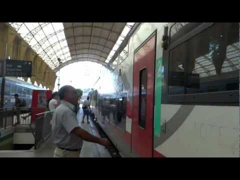 Our train from Nice France to Monte Carlo
