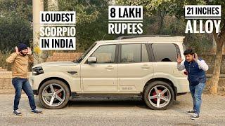 Mahindra Scorpio With Loudest Music Setup In India | Mahindra Scorpio With 21 Inches Alloy | Scorpio