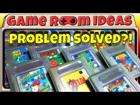 Game Room Ideas - Solving Game Boy cartridge storage/display (+ many others)