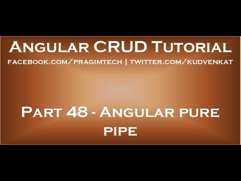 Angular pure pipe