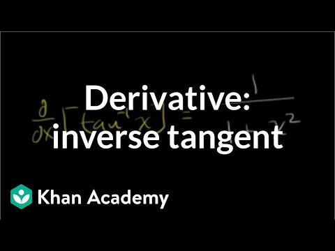 Derivative of inverse tangent | Taking derivatives | Differential Calculus | Khan Academy