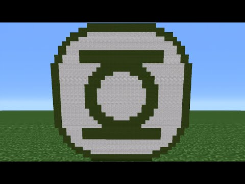 Minecraft Tutorial: How To Make The Green Lantern Logo