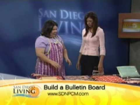 How to make a fabric covered bulletin board.