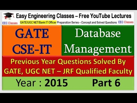 DBMS GATE 2015 Solved Question Part 6 - Problem on Group BY, SQL Queries