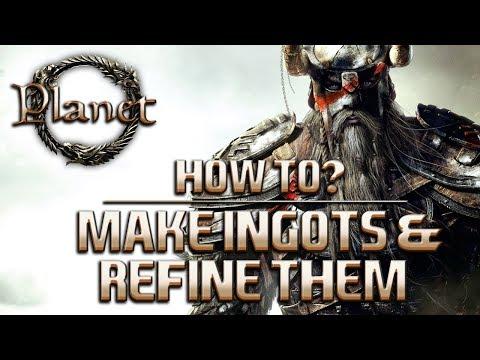 Elder Scrolls Online (ESO) - How to Make Ingots & Refine Them (Guide)